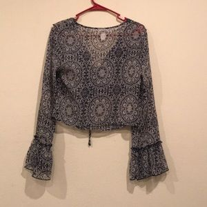 Band of Gypsies Tops - Long Sleeve Blouse